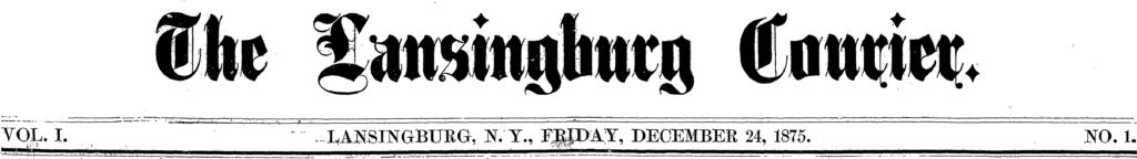 "Masthead of the ""Lansingburg [sic] Courier"" December 24, 1875."