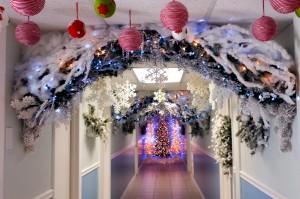 Hallway Holiday Decor