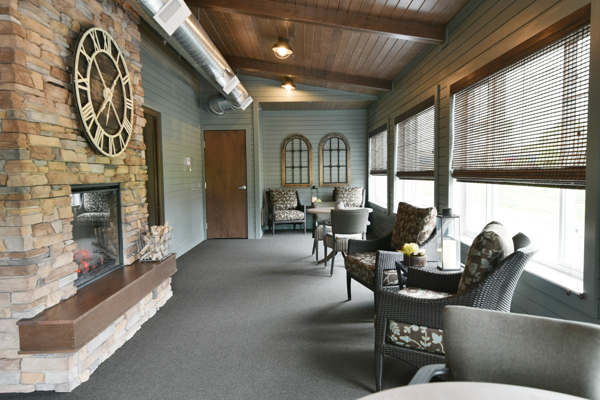 Four Season Porch with Fireplace Amenity