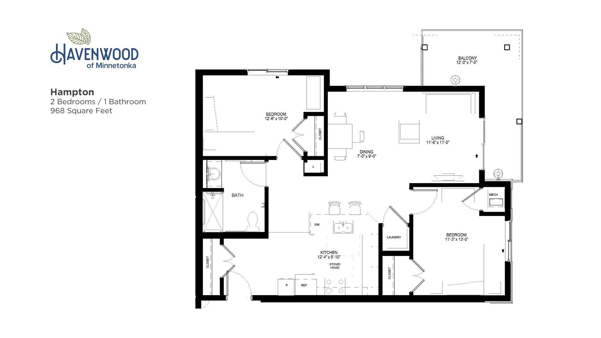 Havenwood of Minnetonka Hampton Floor Plan