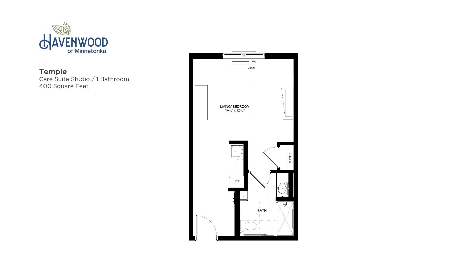 Havenwood of Minnetonka Temple Floor Plan