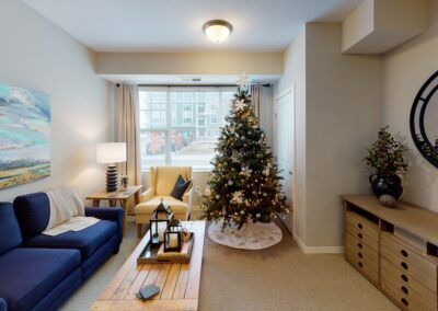 Maple Grove model living room