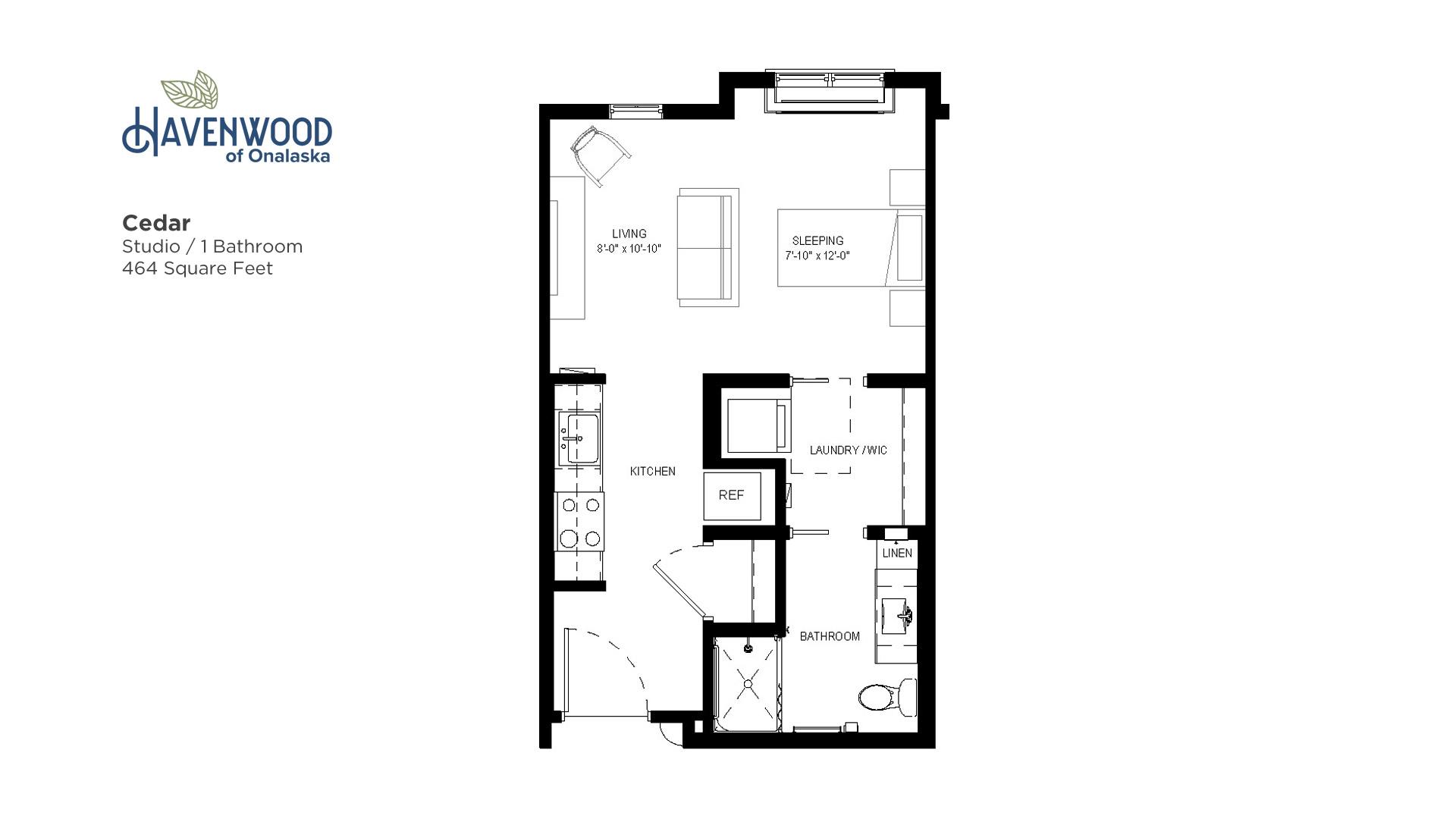 Havenwood of Onalaska Cedar Floor Plan