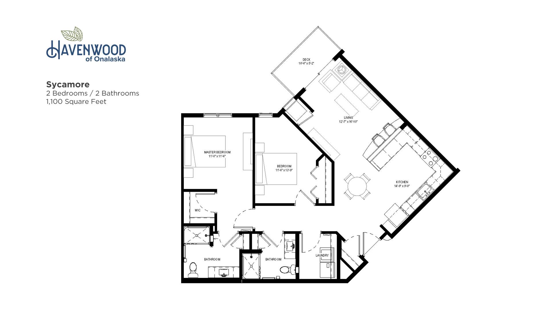 Havenwood of Onalaska Sycamore Floor Plan