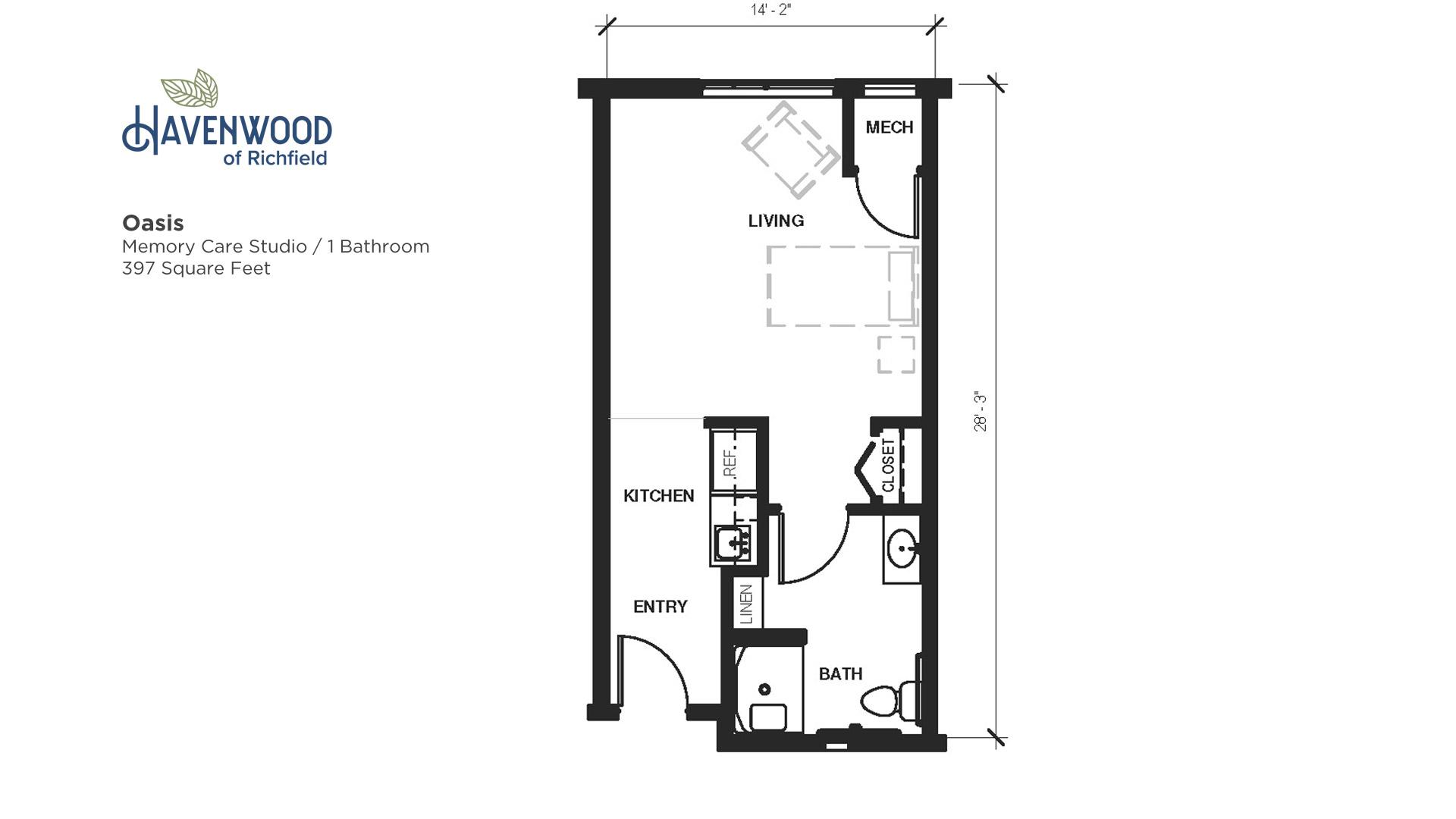 Havenwood of Richfield Oasis Floor Plan