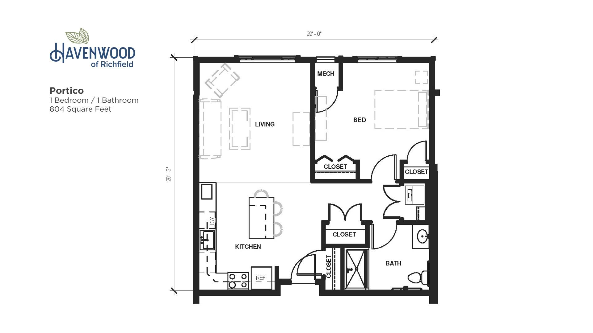 Havenwood of Richfield Portico Floor Plan