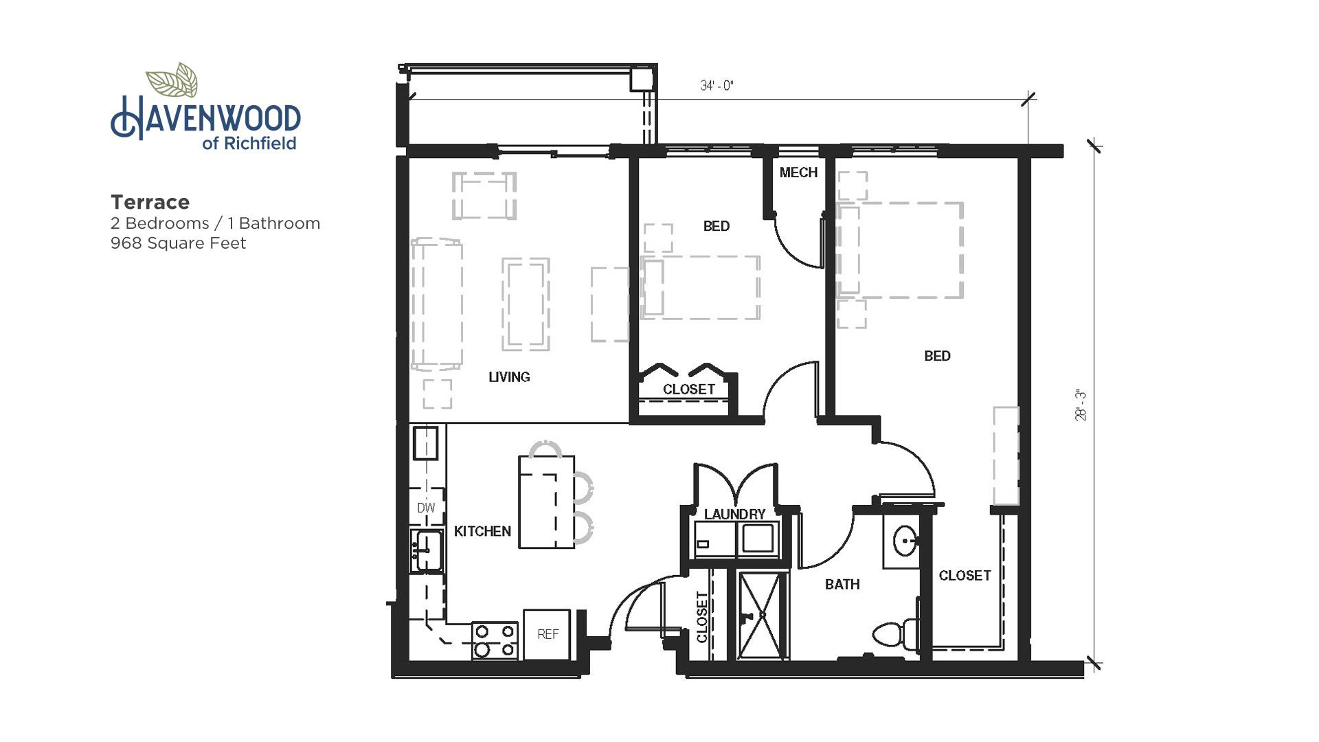 Havenwood of Richfield Terrace Floor Plan