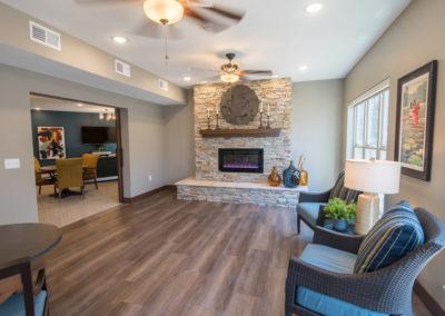 Havenwood of Minnetonka Fireplace Sitting Area
