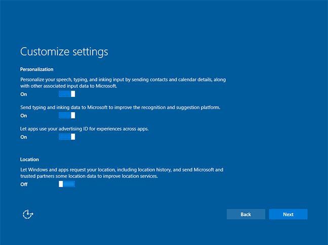 Windows 10 1607 new installation