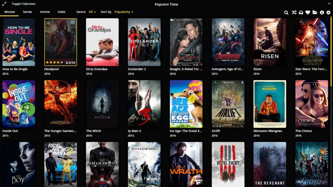 Popcorn Time safe download