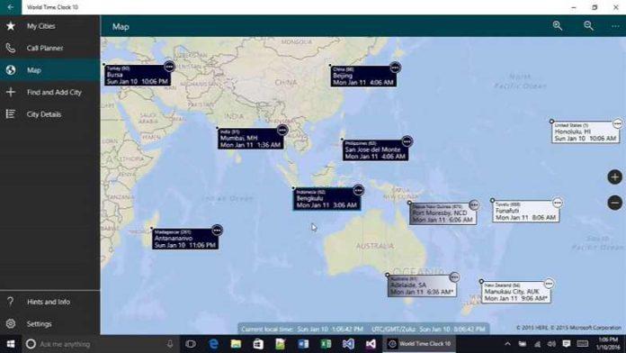 World Time Clock app