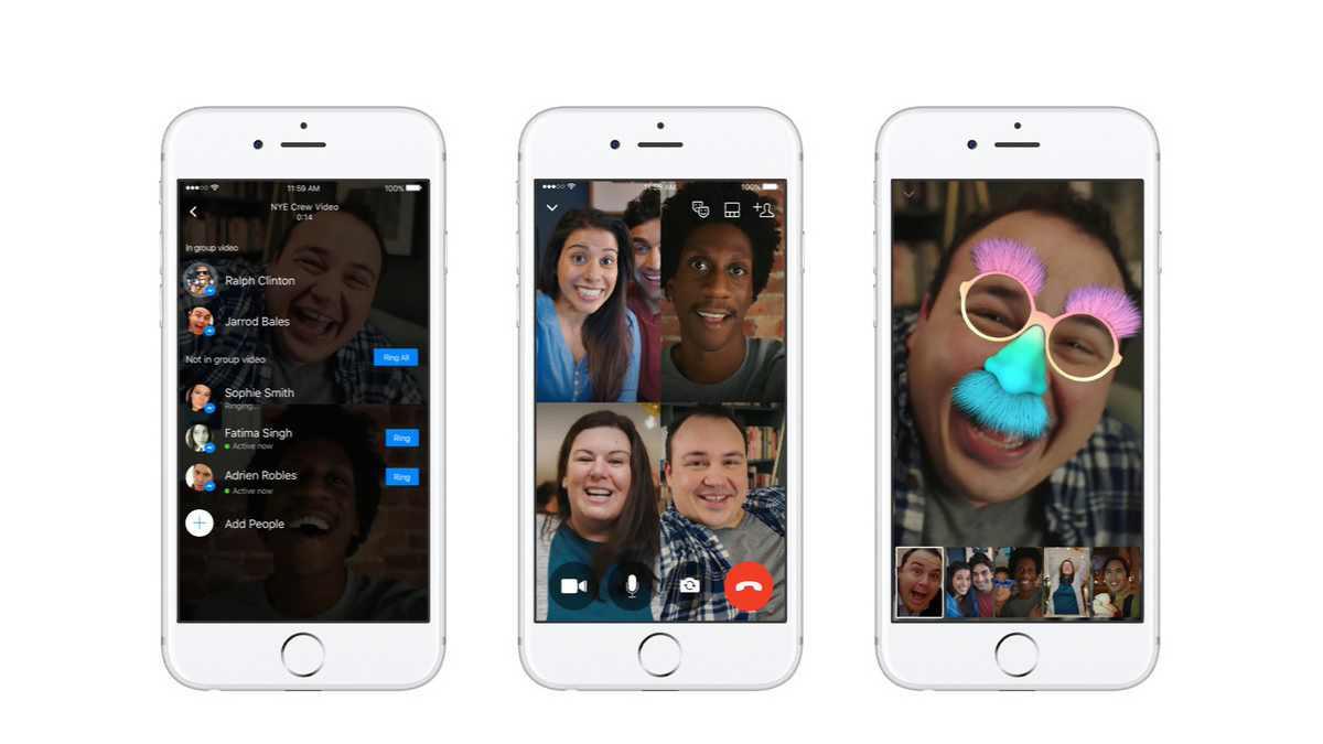 Facebook Messenger gets group video call