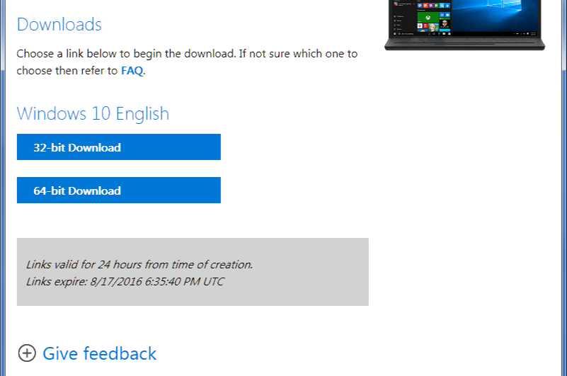 Windows 10 ISO 64-bit or 32-bit download