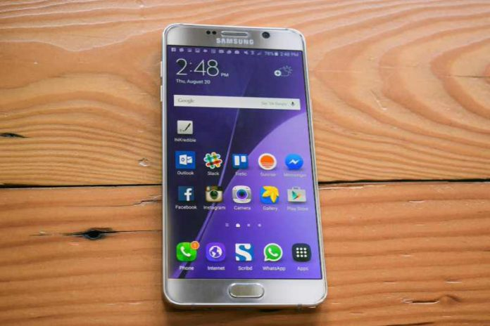 Software update for Galaxy Note 5