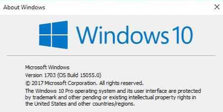 Windows 10 Build 15055