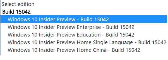Windows 10 Creators Update Build 15042 ISO