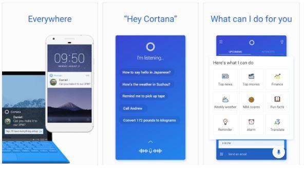 Cortana app Android Sihmar