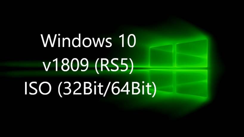 Windows 10 v1809 ISO Download Links