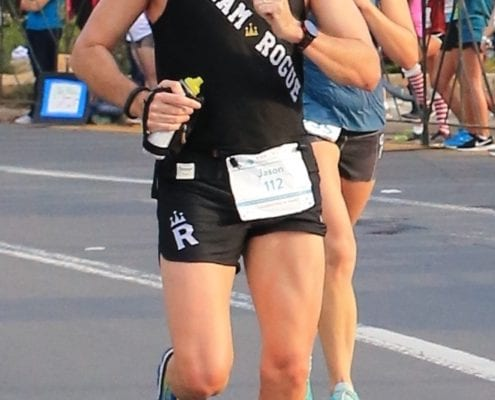 Team Rouge athlete running