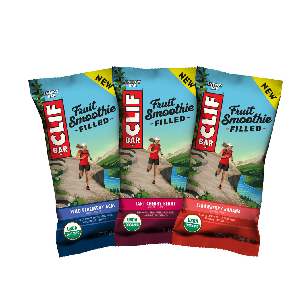 We put the Fruit Smoothie Filled Clif Bars to a taste test.