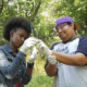 Youth River Watch members examining water quality samples