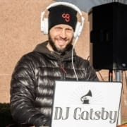 DJ Gatsby provides on-course music at the 2019 3M Half Marathon finish line festival!
