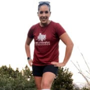 Katrina Green poses in her 2020 3M Half Ambassador shirt.