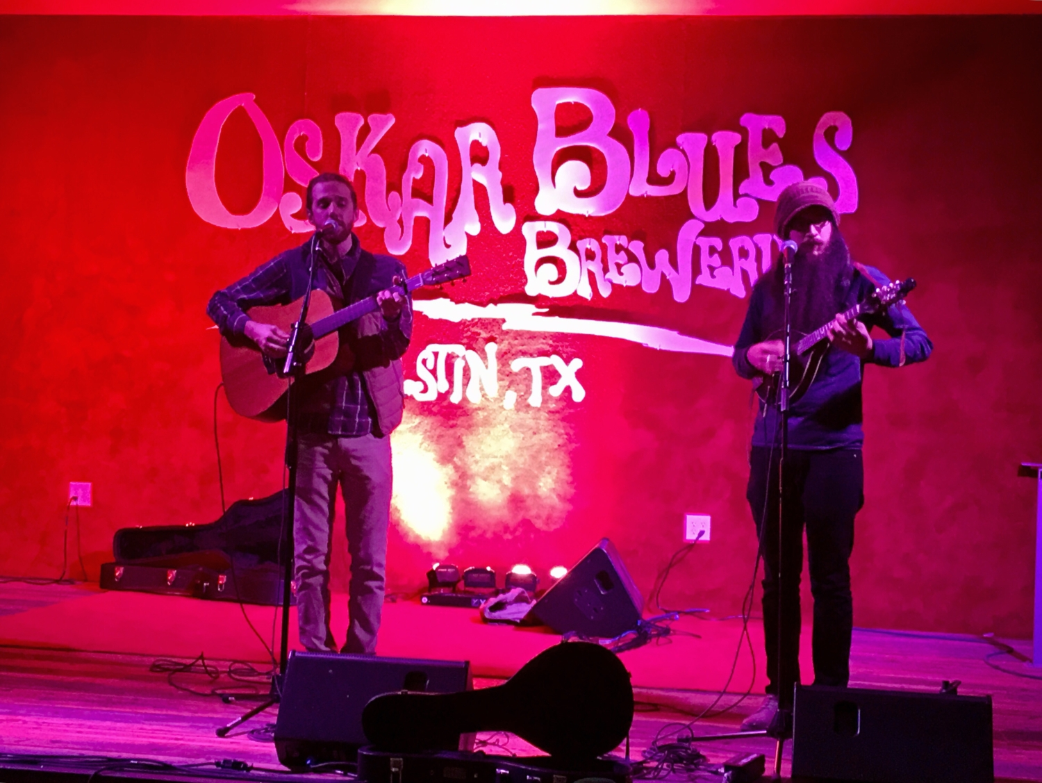 Band performs live at Oskar Blues Brewery. Check out the various locations in this blog post along the 3M Half Marathon course and get to know Austin.