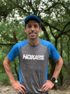 Image of David Fuentes in his Hoka One One gear. He will run with the 2020 elite field at the 3M Half Marathon.