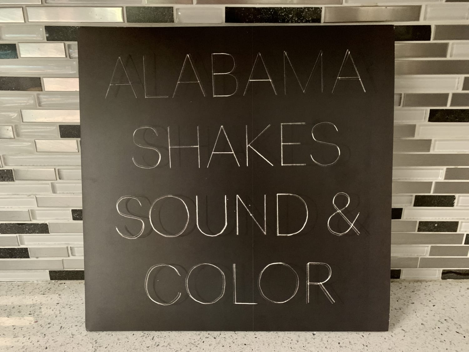 Image of Alabama Shakes' album Sound & Color on clear vinyl. This is one of three albums William Dyson would listen to forever.