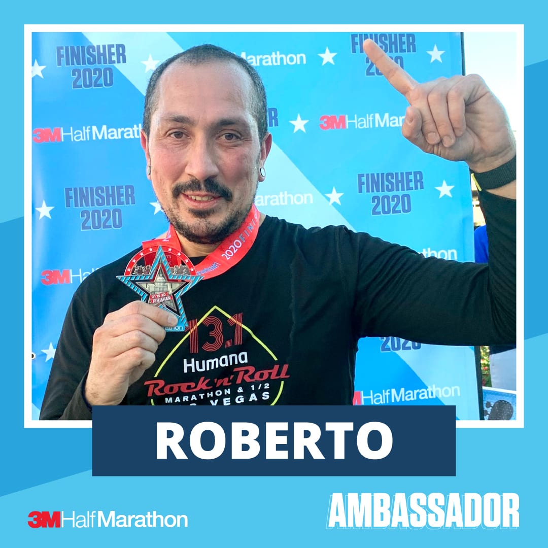 Roberto - 2021 3M Half Marathon Running Ambassador
