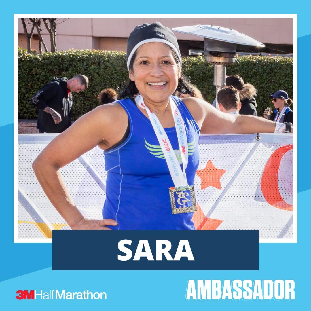 Sara - 2021 3M Half Marathon Running Ambassador