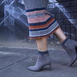 gray-booties-striped-dress-art-mural