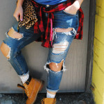 the-illest-ripped-jeans-plaid-shirt-timberlands