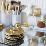 gold slate coasters