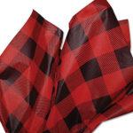red-black-plaid-tissue-paper