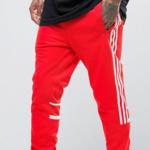 red adidas sweatpants