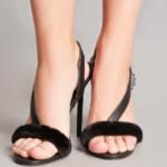 black-furry-shoes