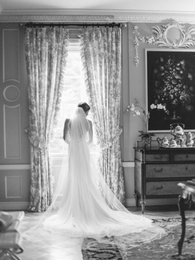 Bride in Edith Wharton room