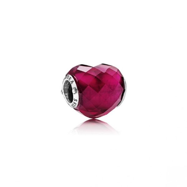 Pandora Shape of Love Fuchsia Charm