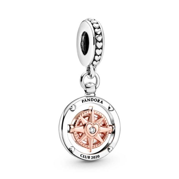 PANDORA Rose Pandora Club 2020 Compass Dangle Charm