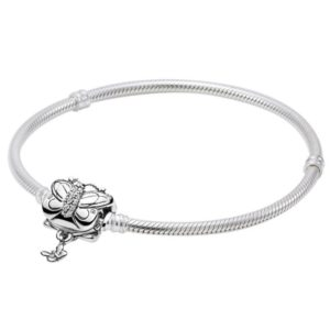 Pandora Moments Butterfly Clasp Snake Chain Bracelet