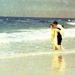 Florida couple on beach