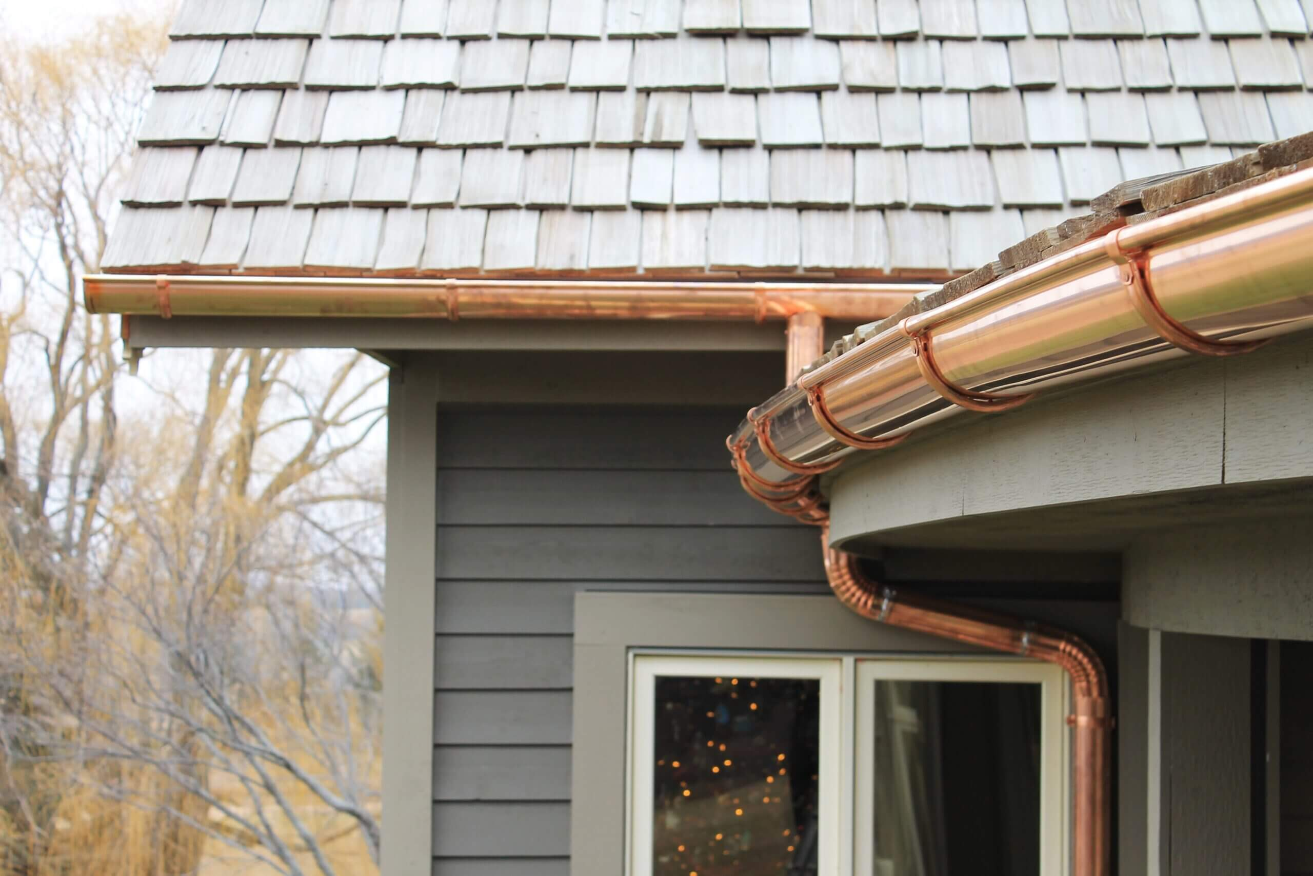 Copper Gutters New