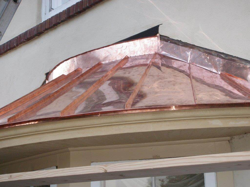 Copper Roof Awning