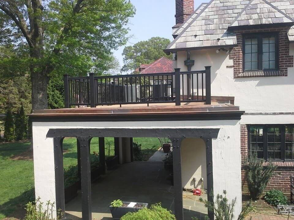 Rooftop Porch with Railing