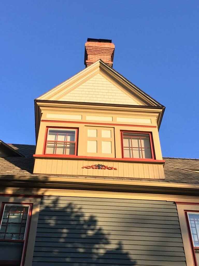 Siding and Chimney Turret Roof