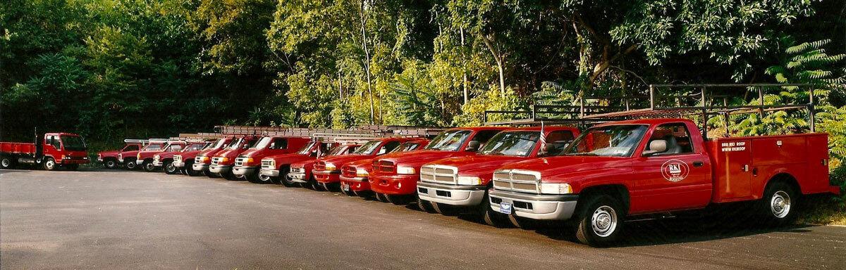 Kaller Roofing Trucks
