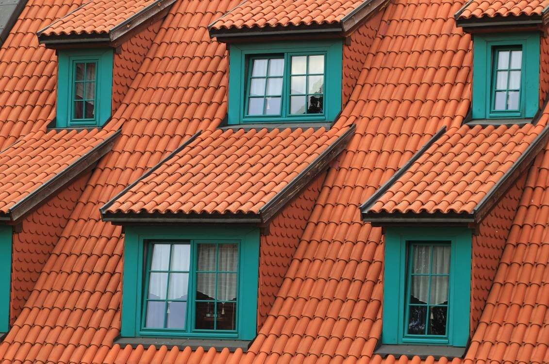Clay Tile Roofed House