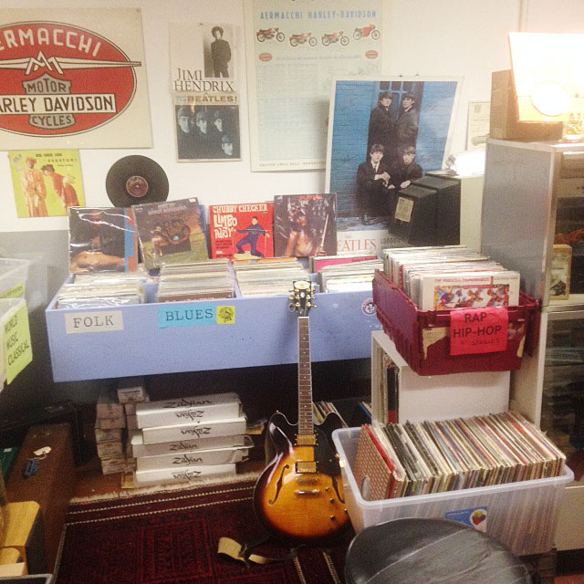 We sell Records, Instruments and Motorcycles in Petaluma, Ca.
